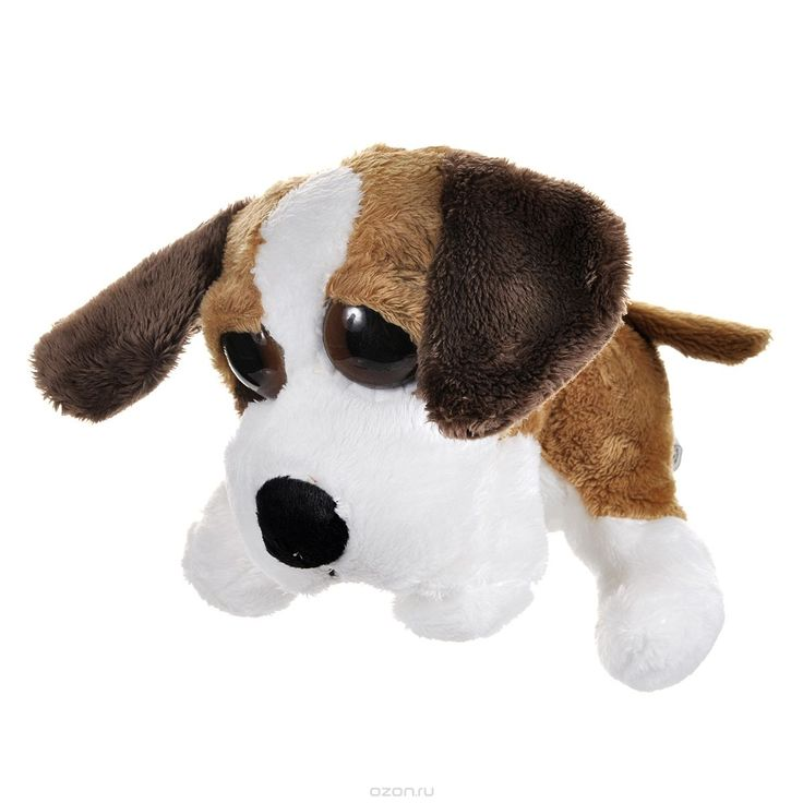 Мягкая игрушка Russ Сенбернар Пиперс: Бренди, цвет: светло-коричневый, белый, 22 см