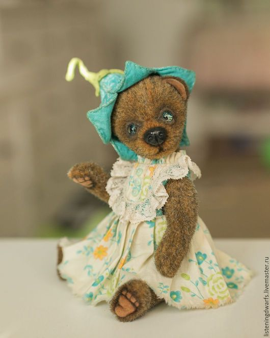 Teddy Bears handmade. teddy bear blue-eyed bell, designer toy, plush. Aleksandra Kulikova (listeningdwarfs). Online shopping on My Livemaster. #teddy #bear #teddybear #handmade #artdoll #ooakteddy #toy #bunny #teddybunny #rabbit #teddyrabbit #motherday
