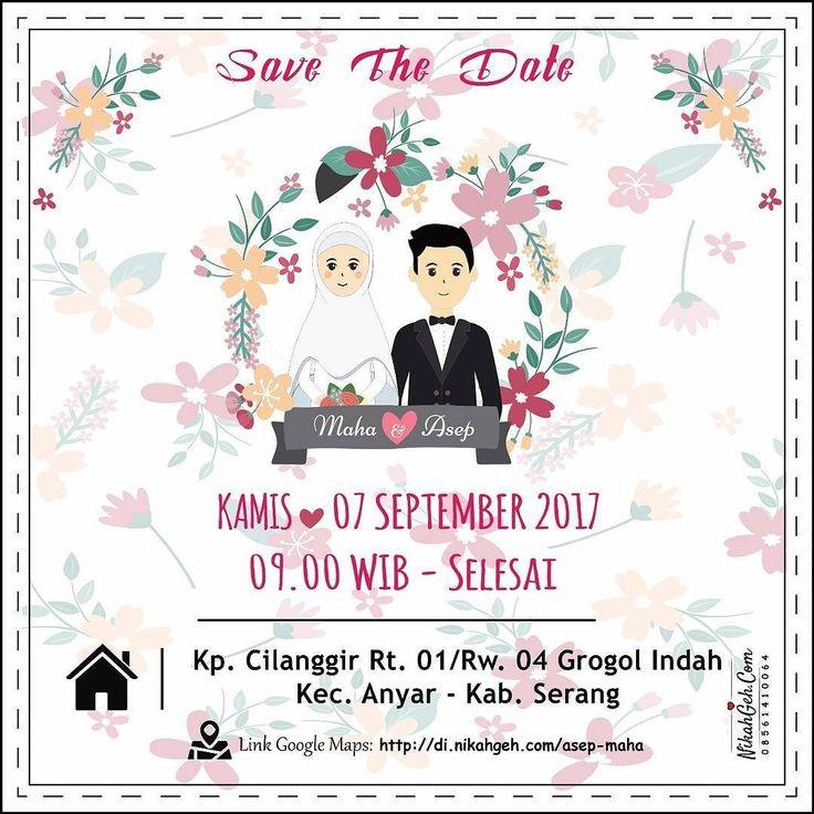https://nikahgeh.com - E-Invitation Maha & Asep . Tanya-tanya atau info lebih lanjut hubungi : WA : 08561410064 Line : nikahgeh Desain bisa cek di http://nikahgeh.com #weddingserang#undanganserang #infoserang #undanganminimalis #simpleinvitation #testinikahgeh #undanganpernikahanmurah #undangancantik #pesanundangan #invitationserang#kotaserang#undangancilegon #undanganpandeglang#undanganmurah #undanganpernikahan#undanganonline #undangankreatif#undanganunik#nikah…