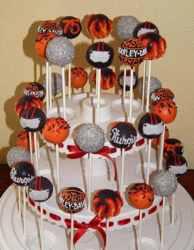 Harley Davidson Motorcycle Cake Pops