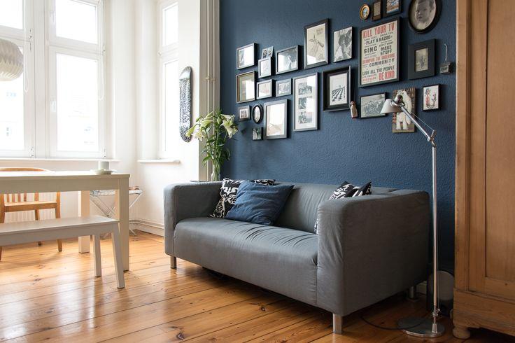 … oder wie unsere Wohnküche eine dunkelblaue Wand bekam