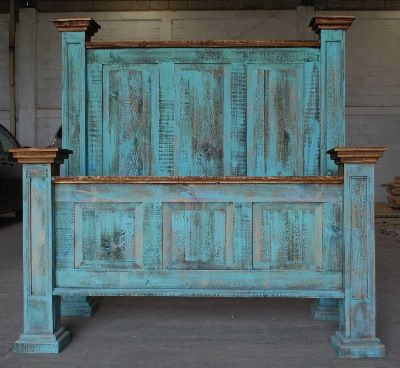 Rustic Furniture Outlet USA, my bed is this same one just In pine. I think I need to go turquoise!