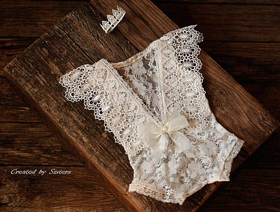 Lace Romper Baby Photo Prop Newborn Prop Photography