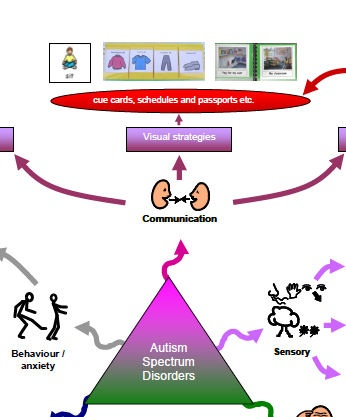 Highly recommended mind map, signposting to basic ideas for supporting children with ASD. This resource incorporates Boardmaker and Widgit symbols.