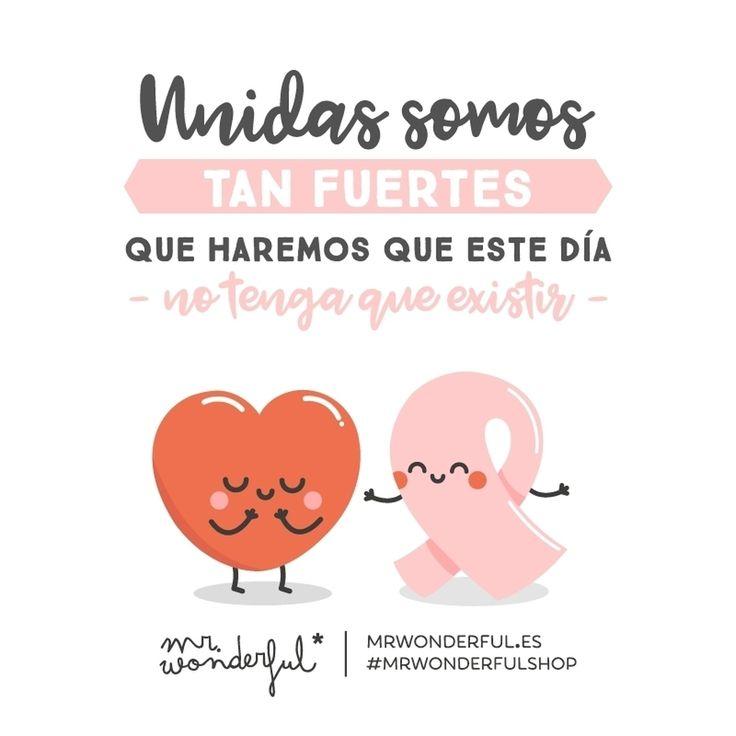 Hoy nos vestimos de rosa para apoyar a todas esas grandes luchadoras. #DíaMundialDelCancerDeMama #mrwonderful