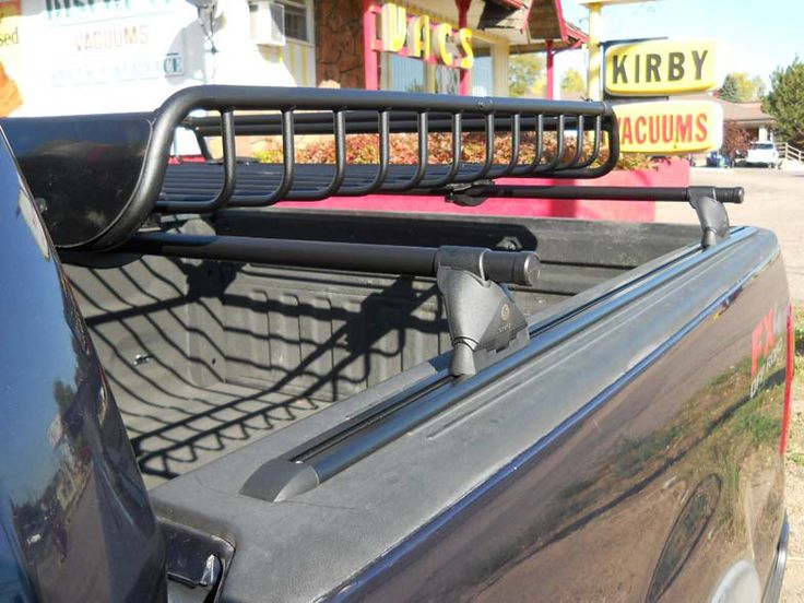 Ford F-150 bed-rail rack with cargo basket install