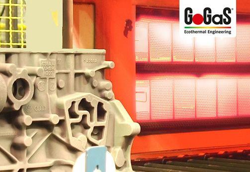 GoGaS Lacktrocknung: Der Pulverlack wird angeliert um die Lackierung besonders langelebig zu machen. Weitere Informationen erhalten Sie unter www.metallfaserstrahler.de oder unter www.gogas.com.