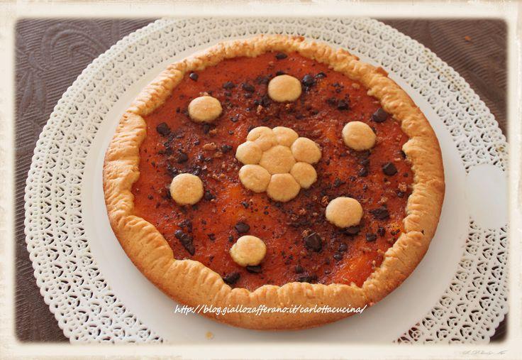 Crostata con marmellata di zucca