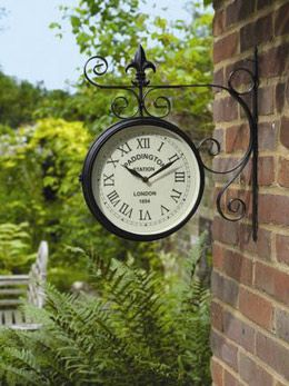 25 best ideas about outdoor clock on pinterest rustic. Black Bedroom Furniture Sets. Home Design Ideas