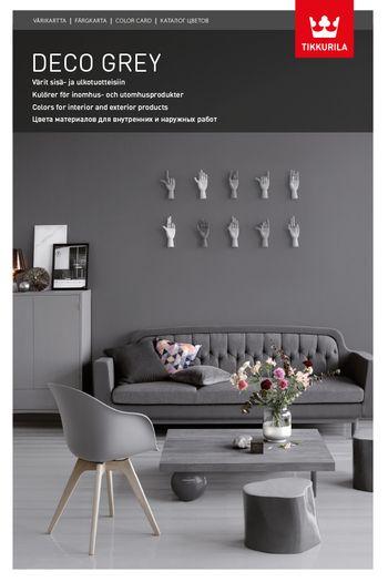 94 tietä harmoniaan: uusi Deco Grey -värikartta hurmaa harmaudellaan. Sen neutraalien ja sävyllisten harmaiden avulla saat luotua kotiisi entistäkin kauniimpia ja harmonisempia kokonaisuuksia.