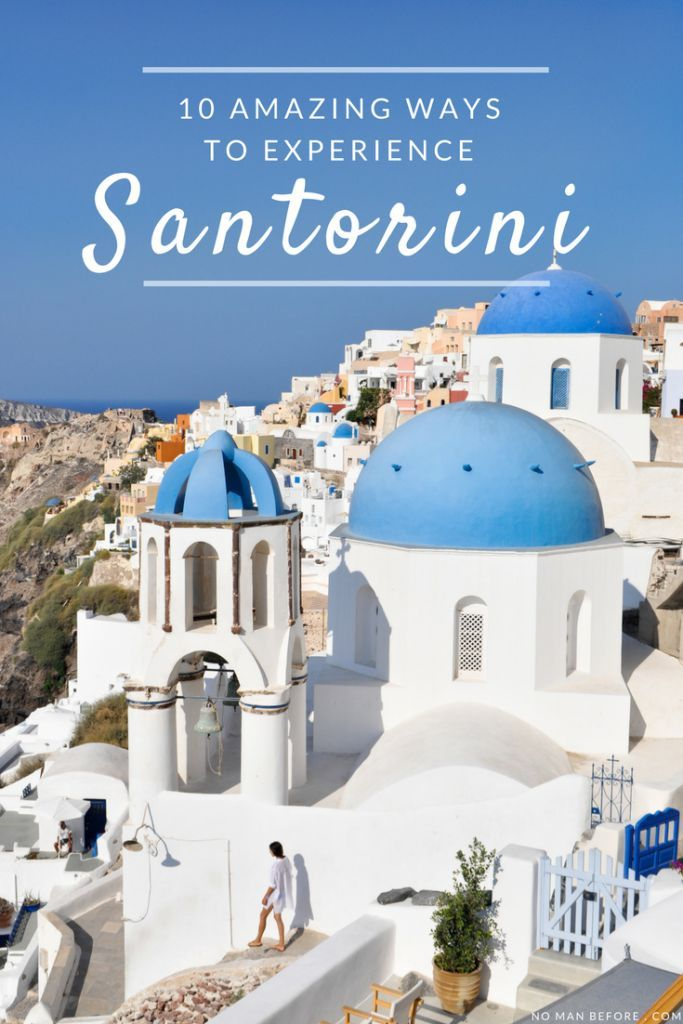 10 Amazing Things to do in Santorini, Greece | Get off the beaten path with a cliff walk from Fira to Oia, go cliff jumping, and eat €2 gyros.