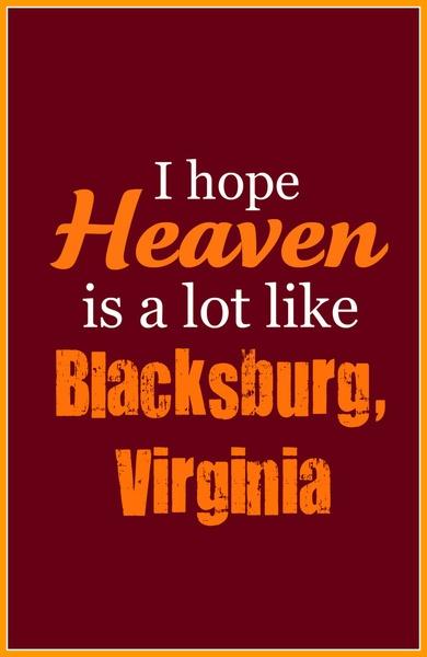 Heaven, Blacksburg VA Art Print