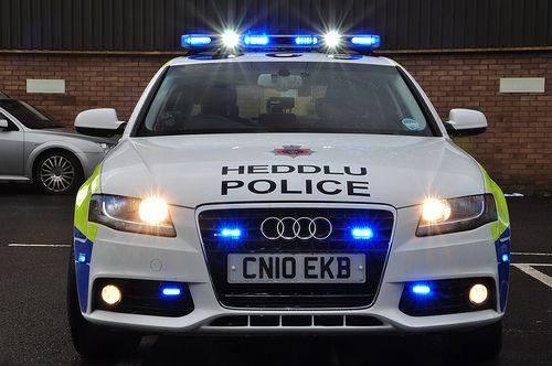 Audi Police Car Wales police r