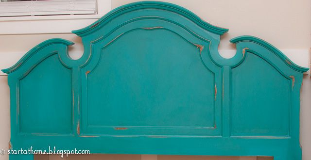 Start at Home: Turquoise Headboard...just in time for Christmas!