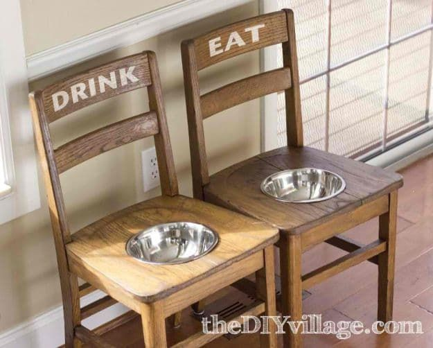 Elevated Feeding Station From Old Chairs | Clever DIY Repurposed Furniture Ideas To Try This Summer