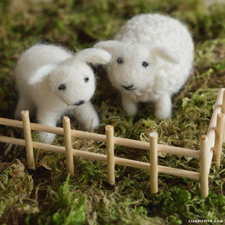 Wool Felted Sheep