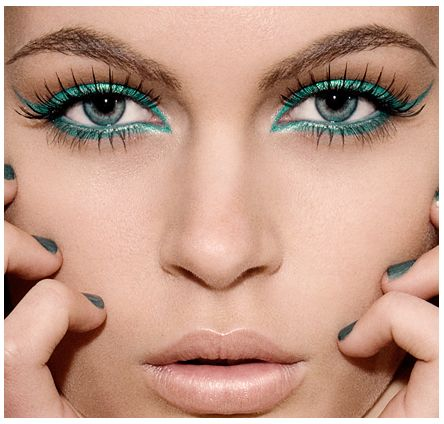 edgy. turquoise liner :)