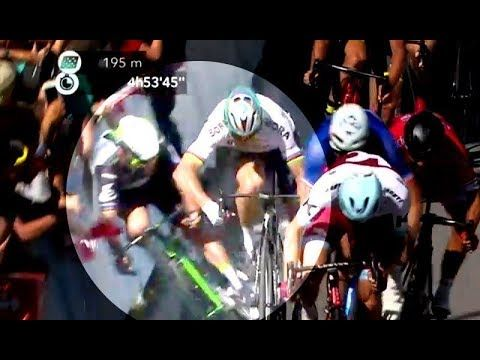 Peter Sagan, expulsado del Tour de Francia por esta maniobra - VER VÍDEO -> http://quehubocolombia.com/peter-sagan-expulsado-del-tour-de-francia-por-esta-maniobra   	 Durante la disputa del esprint por la 4ª etapa del Tour de Francia, el ciclista eslovaco ha provocado la dura caída de Mark Cavendish contra las vallas y, como consecuencia de ésta, la de John Degenkolb y Ben Swift.	 Créditos de vídeo a Popular on YouTube – Colombia YouTube channel