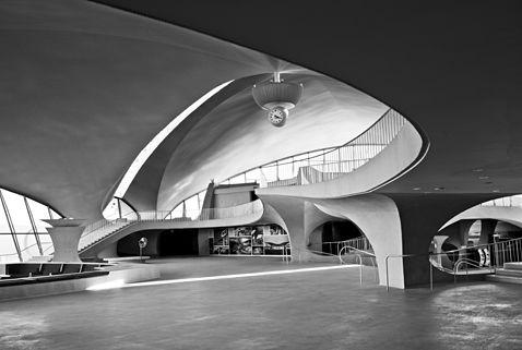 TWA terminal in NYC by Eero Saarinen.