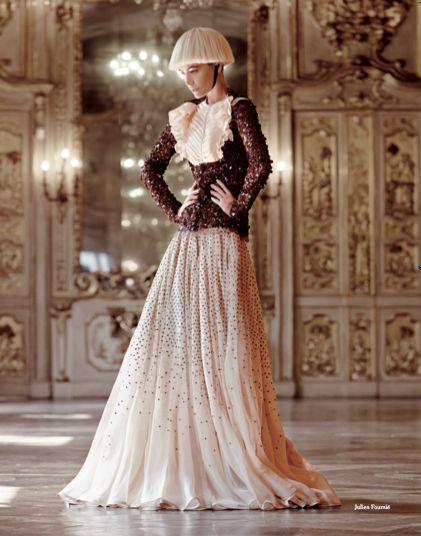 From our Editorial/Paris - Designer Interiors. Look by Julien Fournié Photographer: Mario Gomez Stylist: Sabrina Mellace #JulienFournié #HauteCouture #catwalks #fashion #woman #style #clothes #dress #look