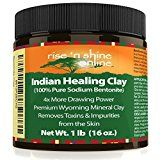 (16 oz) Bentonite Clay Powder - 100% All Natural Face Mask Detox, Skin Pore Cleansing and Rejuvenates Skin and Hair - Helps Acne Psoriasis and Eczema - Pure Sodium Bentonite from Wyoming - http://www.acnemov.com/16-oz-bentonite-clay-powder-100-all-natural-face-mask-detox-skin-pore-cleansing-and-rejuvenates-skin-and-hair-helps-acne-psoriasis-and-eczema-pure-sodium-bentonite-from-wyoming/