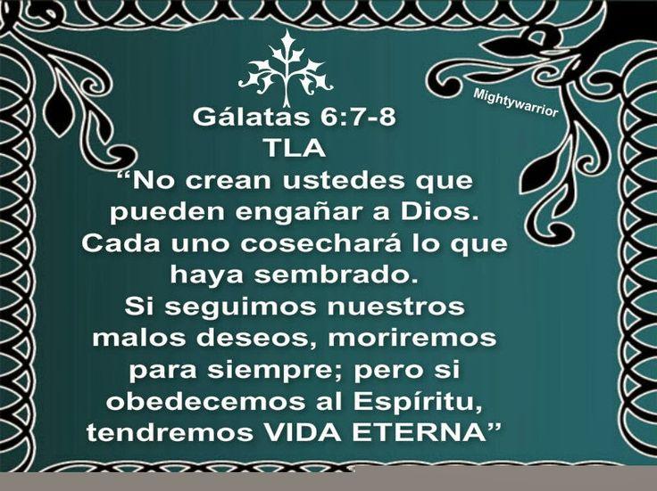 """JESUS PODEROSO GUERRERO: Galatas 6:7-8~~~"""" Engañar a Dios """""""