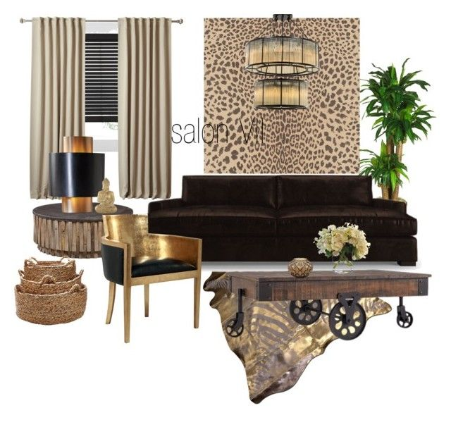 salon VII by a-filipczak on Polyvore featuring interior, interiors, interior design, dom, home decor, interior decorating, Joybird Furniture, Tribecca Home, Global Views and Lalique