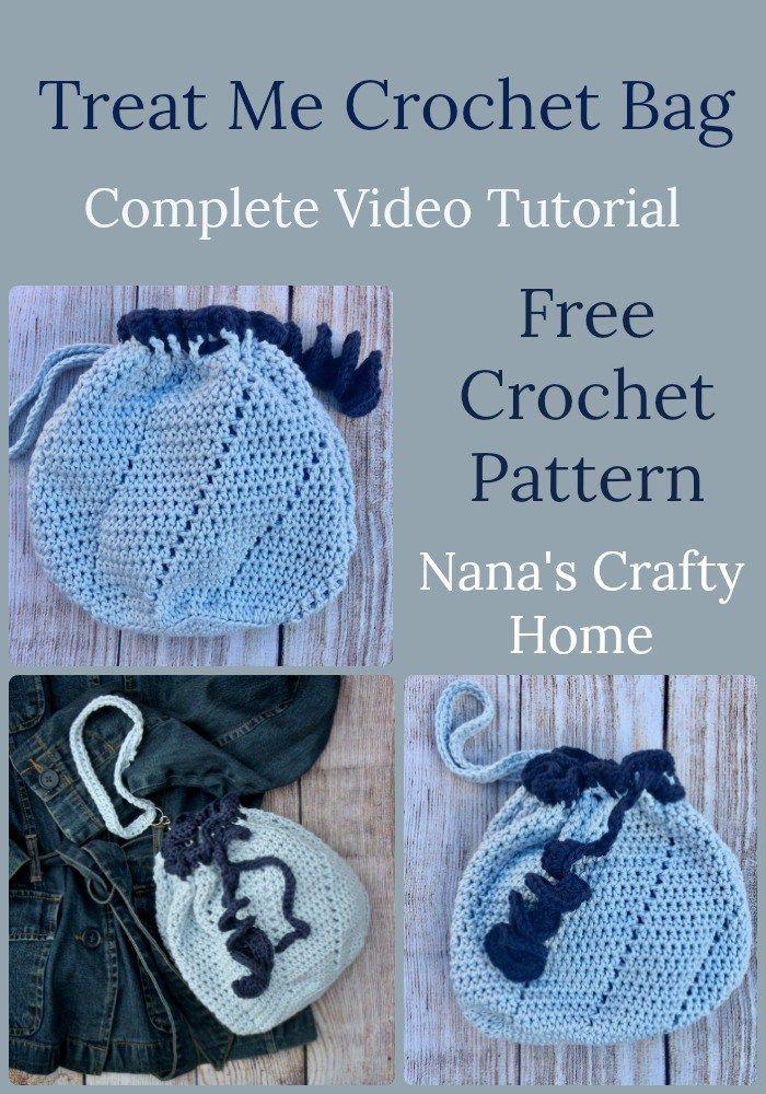 How To Crochet The Treat Me Bag Video Tutorial Bag Pinterest