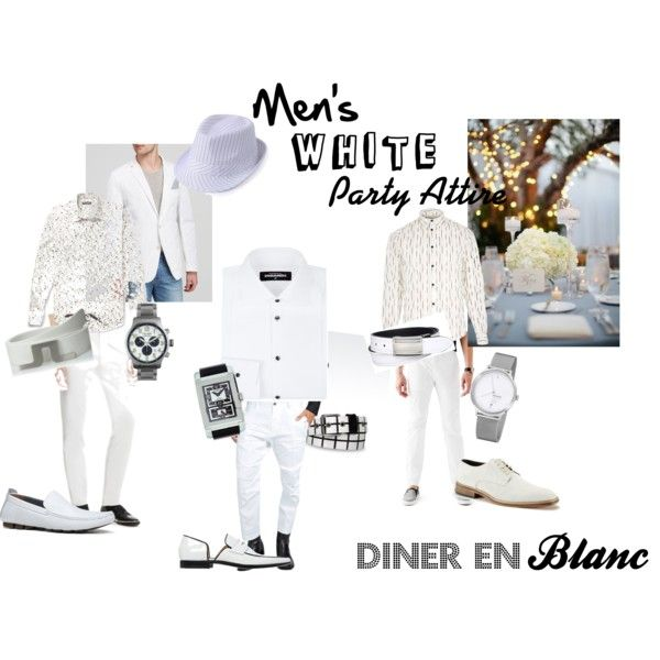 Men's White Party Attire by DivineStyle.  www.divinestyle.co