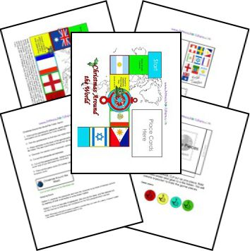 Christmas Around the World<br /> File Folder Review Game