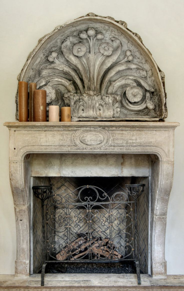 73 best images about nice fireplaces on pinterest for Mediterranean fireplace designs