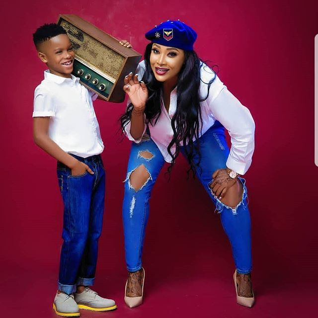 Angela Okorie And Her Son, Chamberlain Orizu All Swagged Up