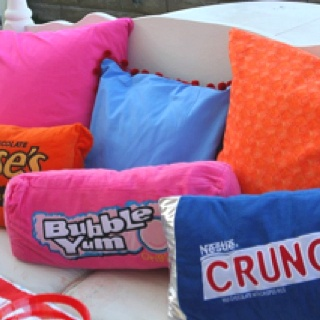 Candy themed rooms and pillows on pinterest for Candy themed bedroom ideas