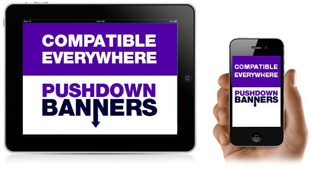 Push Down Banners - Create banners that Push Web content down.