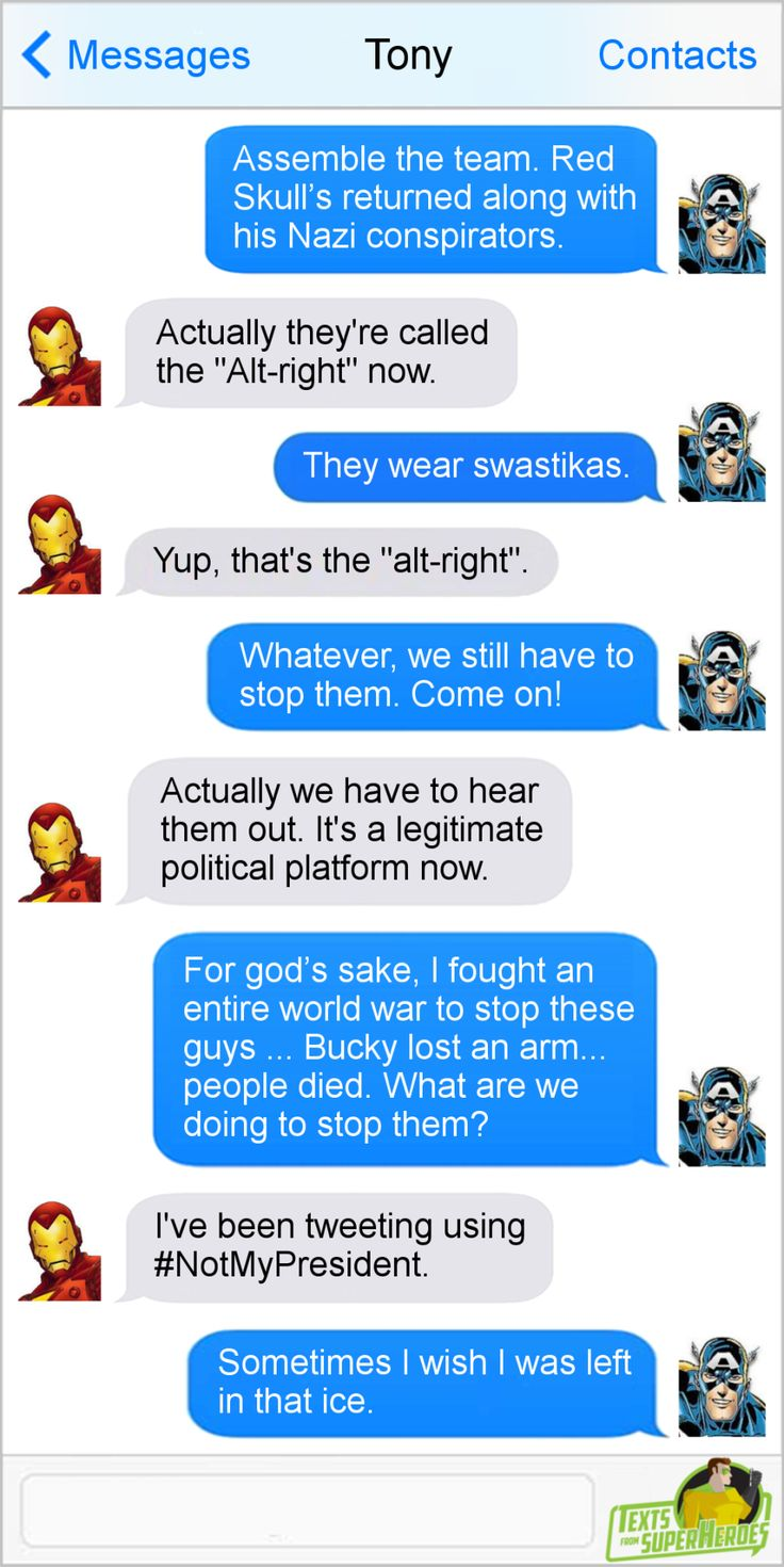 Texts From Superheroes: Someimes, Change is Bad
