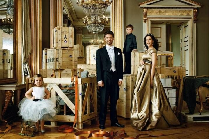 Crown Prince Frederik, Crown Princess Mary, Princess Isabella  & Prince Christian Of Denmark... This picture is just epic.