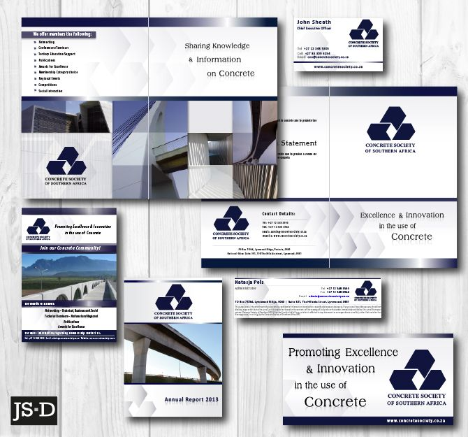 Corporate Stationery Designed for Concrete Society of SA