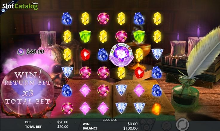 Win 3. Mysterious gems (Video Slot from Genesis)