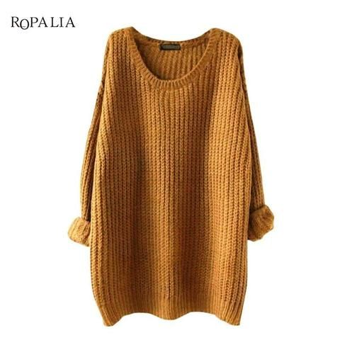 31e43e400cb Plus Size Fashion O-Neck Long Sleeve Top Jumper Women's Comfort ...