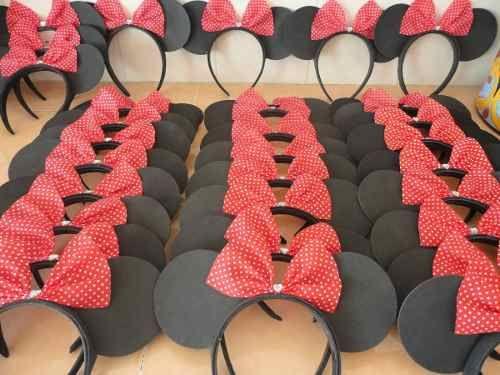 Como hacer unas orejas de Minnie Mouse con fomi - Imagui