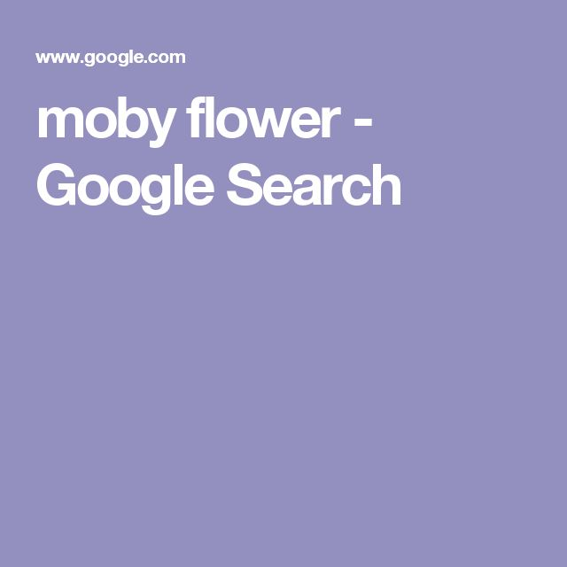moby flower - Google Search