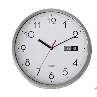 Buy Silver Day and Date Wall Clock at Argos.co.uk, visit Argos.co.uk to shop online for Clocks