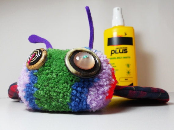 Aberdeen WOoLY rainbow and tartan monster by IWOoLY