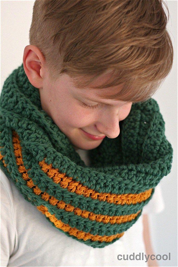 Stoere Colshawl Haken Jongens Mannen Gratis Patroon Crochet