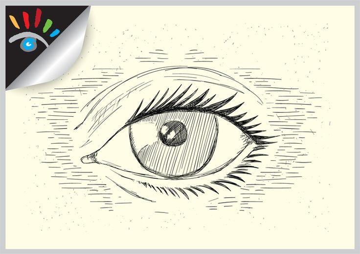 Eye - oog cartoon.