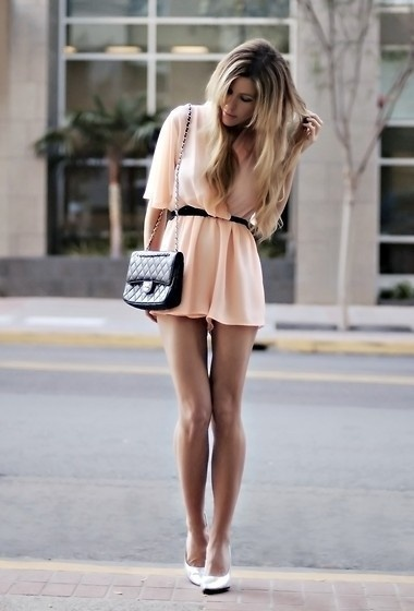 Light Pink.: Long Legs, Chanel Bags, Style, Cute Dresses, Color, Rompers, Shorts, The Dresses, Peaches Dresses