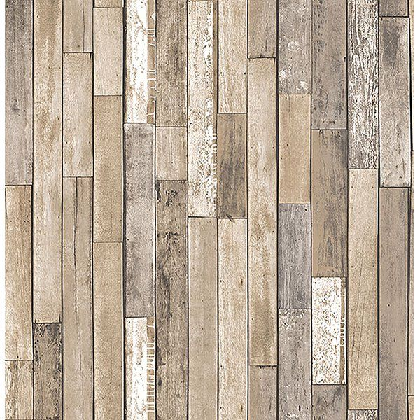 Brewster Barn Board Brown Thin Plank Wallpaper Walmart Com Wood Wallpaper Brick Exterior House Wallpaper Roll