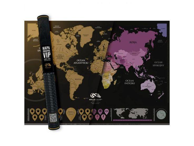 Mapa Zdrapka - VIP - Obrazy plakaty i tablice - sklep Pewex