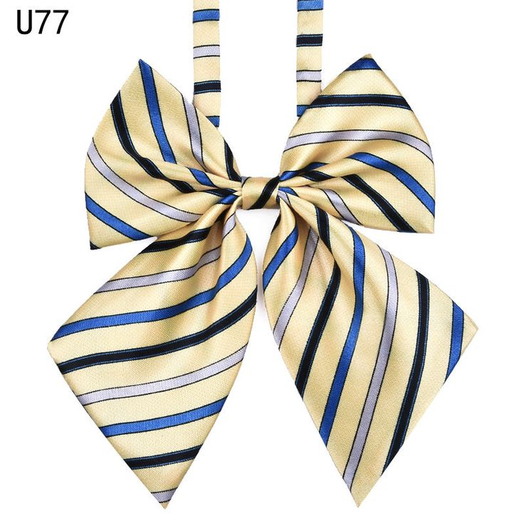 >> Click to Buy << Hot Sale Bow Tie For Women High School Girl Student Cosplay Uniform Formal Suit Accessories Cravat Butterfly Knot  Striped Blue #Affiliate