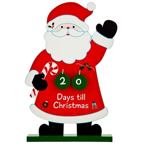 Days 'til Christmas Santa Figure | Poundland